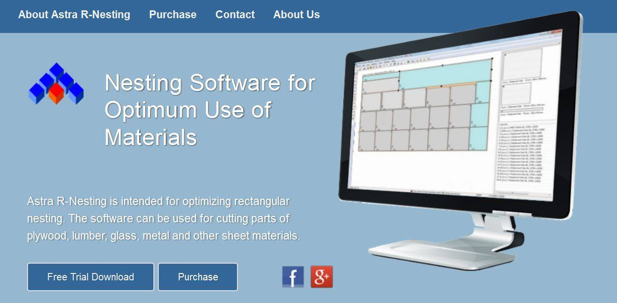 Astra R-Nesting - rectangular nesting software for optimum